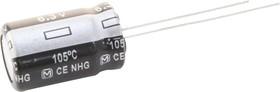 Фото 1/3 ECA0JHG221, Электролитический конденсатор, 220 мкФ, 6.3 В, Серия NHG, ± 20%, Радиальные Выводы