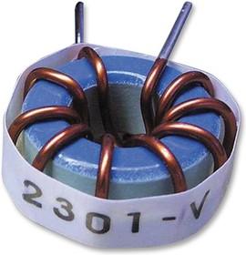 Фото 1/4 2312-V-RC, Тороидальный индуктор, сильноточный, Серия 2300, 100 мкГн, 7 А, 0.037 Ом, ± 15%