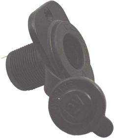 Гнездо прикуривателя под входной диаметр 20мм с защитной крышкой, на панель, № 1055 гн пит прикур d20x38\2T\12В\ пан2отв/d29\рез/крышка
