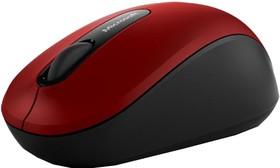Мышь MICROSOFT Mobile 3600 оптическая беспроводная красный и черный [pn7-00014]
