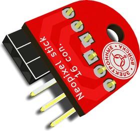 Neopixel stick 16 con, Плата для объединения линеек из светодиодов WS2812B.