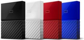 WDBBEX0010BBL-EEUE, Накопитель на жестком магнитном диске WD Внешний жёсткий диск WD My Passport WDBBEX0010BBL-EEUE 1TB