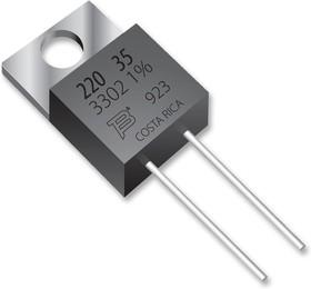 Фото 1/2 PWR220T-20-47R0F, Резистор в сквозное отверстие, 47 Ом, Серия PWR220T-20, 20 Вт, ± 1%, TO-220, 250 В