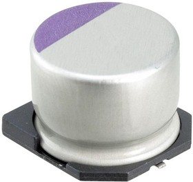 100SXV6R8M, Polymer Aluminium Electrolytic Capacitor, 6.8 мкФ, 100 В, Radial Can - SMD, OS-CON SXV Series
