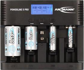 Фото 1/4 Ansmann Powerline 5 Pro, Устройство зарядное с ЖК дисплеем для АА/ААА/C/D,крона Ni-Mh/Ni-Cd
