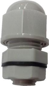 1001M1208-G (MGB12-07G-ST), Ввод кабельный, полиамид, серый