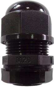 1001M2014-B (MGB20-14B-ST), Ввод кабельный, полиамид, черный