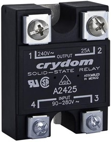 A1225, Solid State Relay 4mA 280V AC-IN 25A 280V AC-OUT 4-Pin