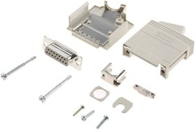 103719, KSG 200 Series, 15 Way D-Sub Socket Connector Kit With KSG 200 Housing with Integral Shielding Plate