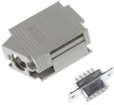 103716, KSG 200 Series, 9 Way D-Sub Socket Connector Kit With KSG 200 Housing with Integral Shielding Plate,