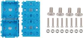 Фото 1/4 Grove - Blue Wrapper 1*1 (4 PCS pack), Корпус для крепления модулей Grove к металлическим поверхностям и конструктору LEGO