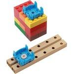 Фото 2/5 Grove - Blue Wrapper 1*1 (4 PCS pack), Корпус для крепления модулей Grove к металлическим поверхностям и конструктору LEGO