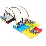 Фото 2/5 Grove - Blue Wrapper 1*2 (4 PCS pack), Корпус для крепления модулей Grove к металлическим поверхностям и конструктору LEGO