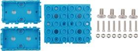Фото 1/5 Grove - Blue Wrapper 1*2 (4 PCS pack), Корпус для крепления модулей Grove к металлическим поверхностям и конструктору LEGO