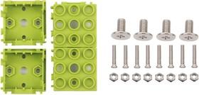 Фото 1/5 Grove - Green Wrapper 1*1 (4 PCS pack), Корпус для крепления модулей Grove к металлическим поверхностям и конструктору LEGO