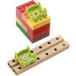 Фото 4/5 Grove - Green Wrapper 1*1 (4 PCS pack), Корпус для крепления модулей Grove к металлическим поверхностям и конструктору LEGO