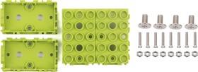 Фото 1/4 Grove - Green Wrapper 1*2 (4 PCS pack), Корпус для крепления модулей Grove к металлическим поверхностям и конструктору LEGO