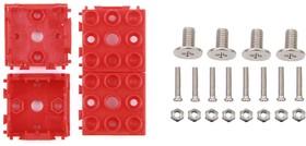 Фото 1/4 Grove - Red Wrapper 1*1 (4 PCS pack), Корпус для крепления модулей Grove к металлическим поверхностям и конструктору LEGO