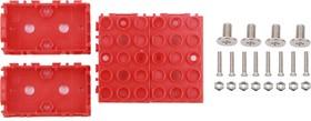Фото 1/4 Grove - Red Wrapper 1*2 (4 PCS pack), Корпус для крепления модулей Grove к металлическим поверхностям и конструктору LEGO