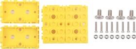 Фото 1/4 Grove - Yellow Wrapper 1*2 (4 PCS pack), Корпус для крепления модулей Grove к металлическим поверхностям и конструктору LEGO
