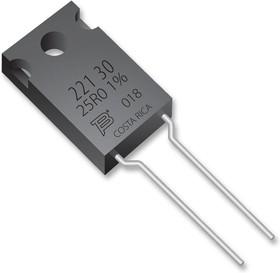 PWR221T-30-1R00J, Res Thick Film 1 Ohm 5% 2.25/30W ±100ppm/°C Epoxy TO-220 RDL Automotive Tube