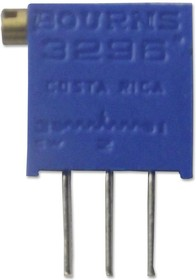 3296Z-1-100LF, Подстроечный потенциометр, 10 Ом, 25 виток(-ков), Сквозное Отверстие, Серия 3296Z, 500 мВт, ± 10%