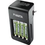 57687, Зарядное устройство VARTA LCD PLUG CHARGER + 4*AA 2100 mAh