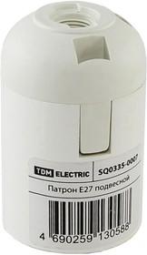 Фото 1/2 SQ0335-0007, Патрон Е27 подвесной, термостойкий пластик, белый