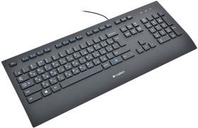 Клавиатура LOGITECH K280e, USB, черный [920-005215]