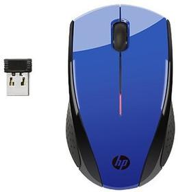 Мышь HP X3000 оптическая беспроводная USB, синий [n4g63aa]