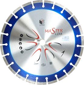 Круг алмазный DIAM Ф230x22мм Master Line 2.4x10мм Ф230х2.4х22мм сегментный по железобетону