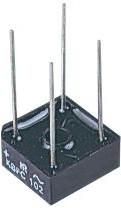 Фото 1/3 VS-KBPC602PBF, Мостовой выпрямитель, 1 Фаза, 200 В, 6 А, Сквозное Отверстие, 1.2 В, 4 вывод(-ов)