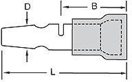 0190350004, Snap Plug Terminal 18-22AWG Copper Red M 25.04mm Tin Avikrimp™ T/R
