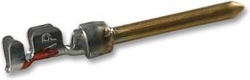 Фото 1/2 166294-1 (DC-TM 24-28 AWG), Контакт-штекер Amplimite, для вилки D-SUB, провод 24-28 AWG