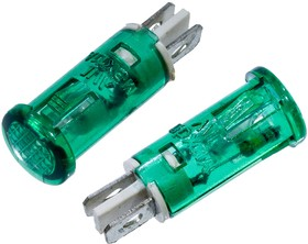 MDX-11A-G, индикаторная лампа зеленая 10мм, 220В