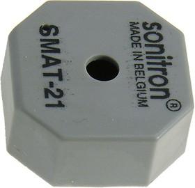 Фото 1/3 SMAT-21-P10, пьезоизлучатель без генератора 21мм