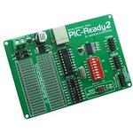 MIKROE-414, PIC-Ready2 Board, Макетная плата для 18-pin ...