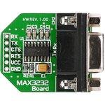 MIKROE-602, MAX3232 Board, Периферийный модуль для подключения через RS232-интерфейс