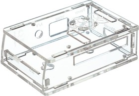 Фото 1/5 Acrylic Case for Raspberry Pi Model B+ / Pi 2 [CLEAR], Корпус для одноплатного компьютера Raspberry Pi Model B+ / Pi 2