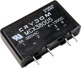 MCX380D5, реле 4-15VDC 5A/380VAC