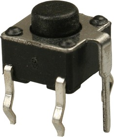 0650GHIM-130G-G, кнопка тактовая 6х6 с заземл. h=5мм (TS-A2PG-130)