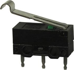 DM1-02P-40G-G, микропереключатель с лапкой 125В 1A