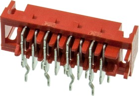 338070-8, Micro-Match-8 розетка на плату 1,27мм