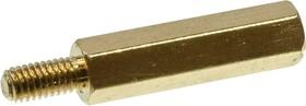 Фото 1/3 PCHSN-18, Стойка для п/плат,шестигр., латунь, М3, 18 мм