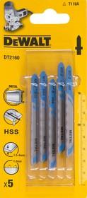 Пилки для лобзика DeWALT DT2160-QZ по металлу HSS T 118 A, 5шт.