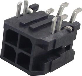 Фото 1/3 43045-0406, Разъем типа провод-плата, 3 мм, 4 контакт(-ов), Штыревой Разъем, Серия Micro-Fit 3.0 43045