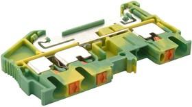 PT 2,5-TWIN-PE, Клеммная колодка на DIN рейку, 3 вывод(-ов), 26 AWG, 12 AWG, 4 мм², Вставной, 28 А