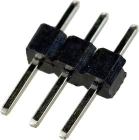113-A-SS03G, PLS2- 3 вилка штыревая 2.0мм 1x3 прям
