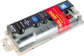 SIS-2-10, Сетевой фильтр Power Cube Garant 3 м, 5+1 страховка, металлик