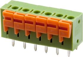 XY122V-6P-5.08, клеммник нажимной 6 контактов 5.08мм (DG142V-5.08-06P)